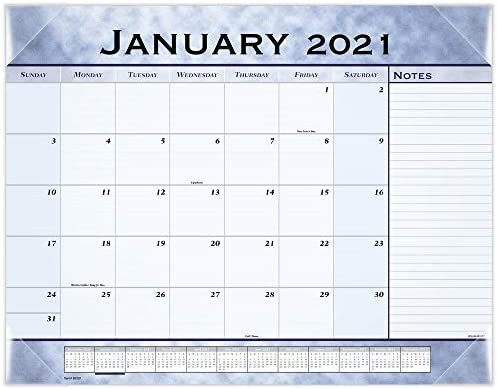 Uw 2021-2022 Calendar Amazon.: 2021 Desk Calendar by AT A GLANCE, Monthly Desk Pad