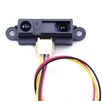 GP2Y0 A21YK0 F infrarrojos Sensor de proximidad Sensor de Detección de sensor de distancia por infrarrojos 10 - 80 cm de distancia: Amazon.es: Electrónica