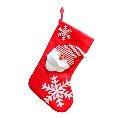 Candy Needlepoint (Classic Christmas Stockings, baskuwish Snowman Reindeer Toys Stockings Candy Gift Bag Socks Gifts Bag (Red))