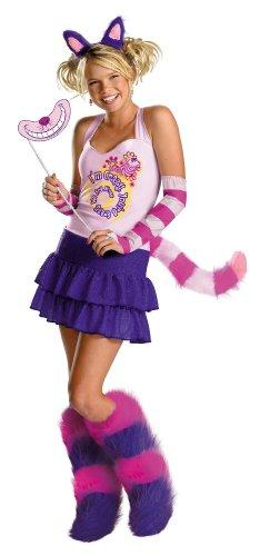Alice In Wonderland Jr Costumes (The Cheshire Cat Teen/Junior Costume - Preteen/Tween)