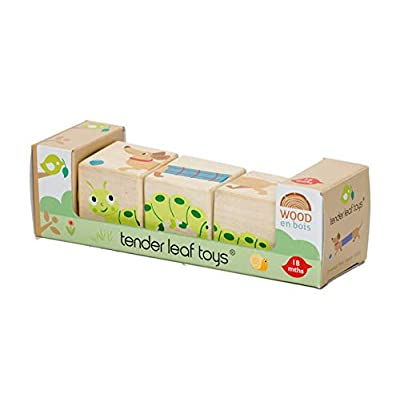 Tender Leaf Toys - Educational Twisting Toy - My First Baby Wooden Puzzle Game - Early Learning to Develop Strategic Thinking and Fine Motor Skills for Children 18M+ (Twisting Cubes): Toys & Games