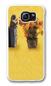 Flower Kitten Custom Samsung Galaxy S6/Samsung S6 Case Cover Polycarbonate White wangjiang maoyi