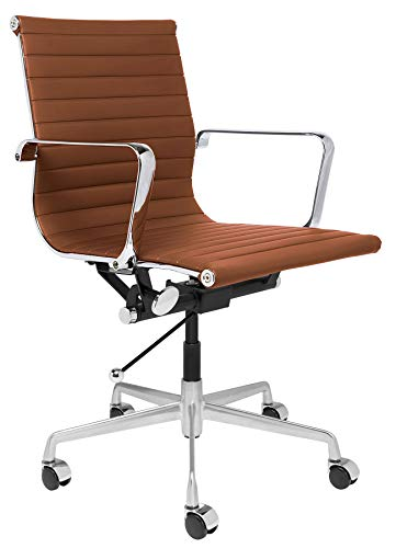 SOHO Ribbed Management Office Chair (Brown) ()