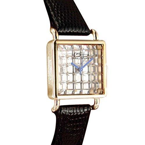 Deco Timepiece Fashion Watch - Daniel Steiger Diamondeau Deco Black Ddw