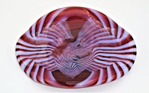 Decorative Sunset Coral and Opaline Soap Catchall Trinket Candy Dish Handcrafted Fused Glass (Soap Sunset Dish)