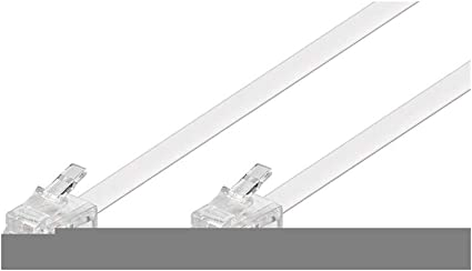 Goobay 93065 Modularanschlusskabel 15 Meter Weiß Elektronik