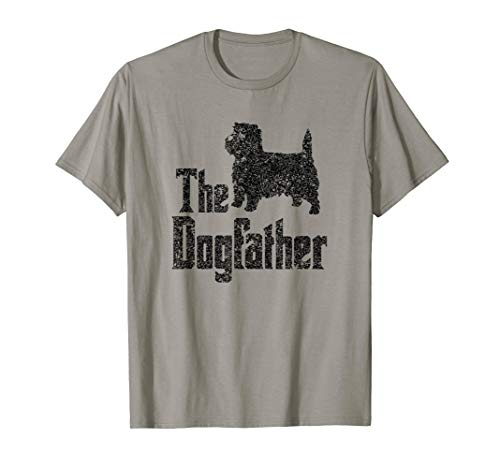 Cairn Terrier Silhouette - The Dogfather T-Shirt Cairn Terrier funny dog gift idea