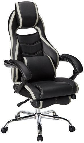 Merax Racing Reclining Office Chair With Footrest