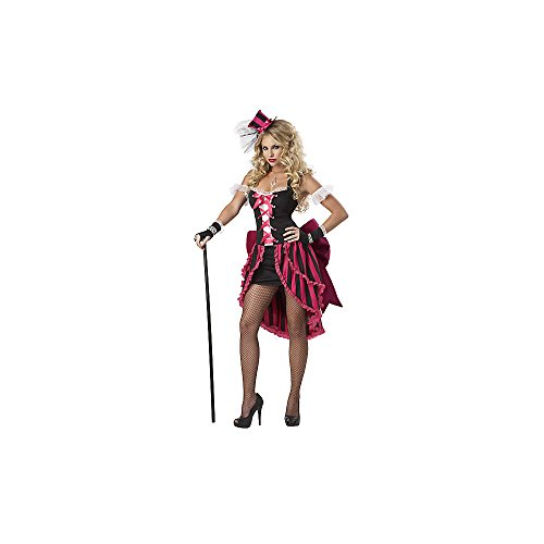 Parisian Girl Costumes (Eye Candy Women's Parisian Burlesque Moulin Rouge Costume M Pink And)