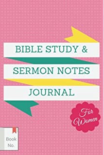 Amazon my sermon notes journal key notes 9781593106508 bible study sermon notes journal for women the notebook for adults to write in pronofoot35fo Image collections