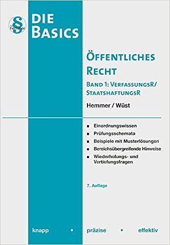 basic ffentliches recht i 9783861937517 amazoncom books - Offentliches Recht Beispiele