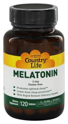 Country Life Melatonin Rapid Release, 1 mg - 120 Tablets