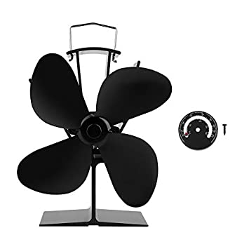 Calentador de aire ventilado con indicador de temperatura EQ2-GD Ventilador para estufa de leña: Amazon.es: Instrumentos musicales