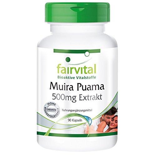Muira Puama Potenzholz 10:1 Extrakt 500mg aus 5g Muira Puama - 90 Kapseln