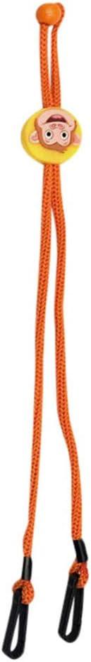 SO-buts Cuerda Cabestro Cordón De Protección Facial De 20 Piezas, Conveniente Cuerda Para Colgar En La Oreja, Ajustable, Anticaída Y Sin Rastro, Con Dos Ganchos (Naranja 2)