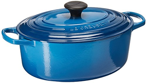 Le Creuset Signature Enameled Cast-Iron 5-Quart Oval French (Dutch) Oven, Marseille - 5 Qt Oval French Oven