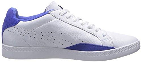 Puma Womens Match Per Sneaker Sportivo Basic Sportivo Bianco / Blu Abbagliante
