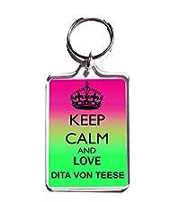 KEEP CALM AND LOVE DITA VON TEESE KEYRING Keychain