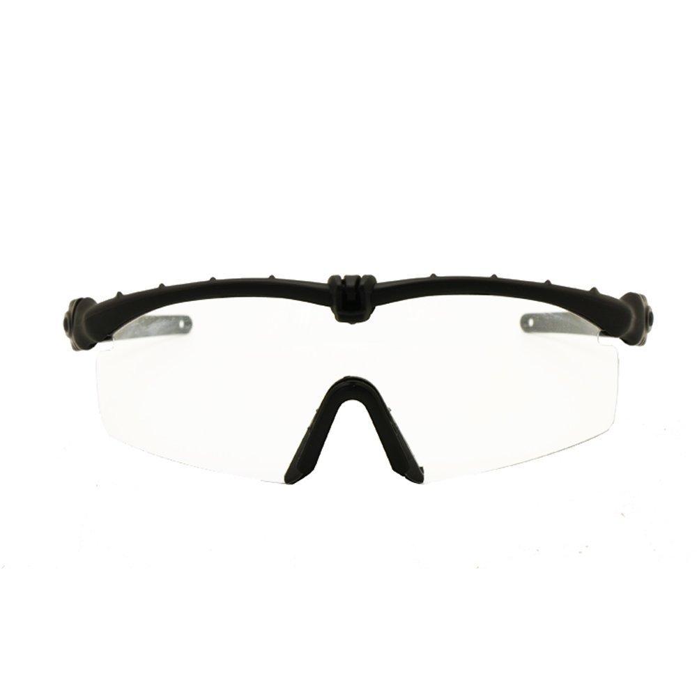 EnzoDate Gafas de Sol polarizadas Gafas de Militares del ejército los Hombres Frame 3/4 Lente Agencia de Juego de Guerra eyeshields