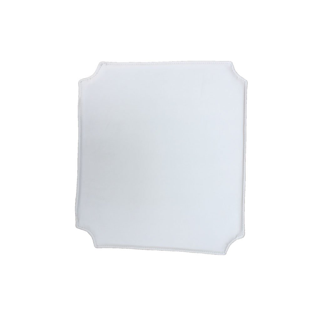 Jinchan骨型椅子クッションPU (Bicastレザー) X 4個 S ホワイト  ホワイト B07DN3ZM1G