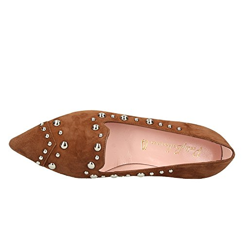 Brown FLATSS Ballerinas Ballet Angelis Pretty 47514 VILM 8RYwqU