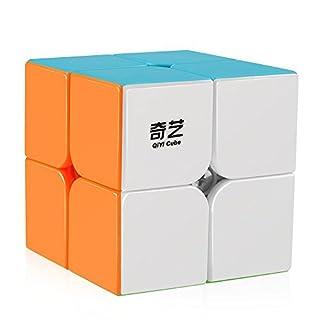 D-FantiX Qiyi Qidi S 2x2 Speed Cube Stickerless Puzzle Cube for Kids