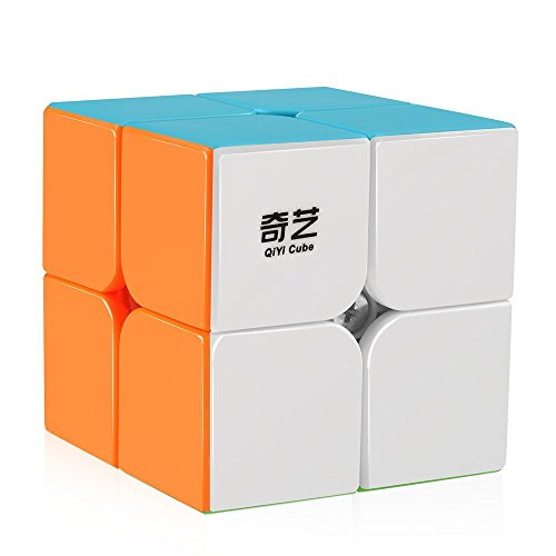 D-FantiX Qiyi Qidi S 2x2 Speed Cube Stickerless Puzzle Cube for Kids (Tactile Cube)