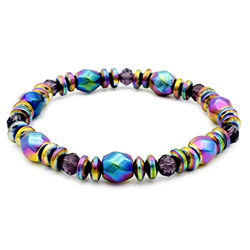 Unisex Magnetic Hematite Bracelets, Metal Therapy, Bracelets for Pain Relief, Hematite Jewelry for Men & Women,1 Pcs