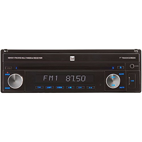 Dual XDVD1170 In-Split 7-Inch Touchscreen DVD/MP3/WMA Car Stereo Receiver with Direct USB iPod Control and SD Card Reader