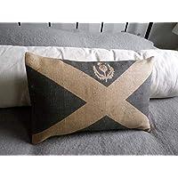 Athena Bacon Pillowcasecase Hand Printed Scottish Saltire Flag Cushion Cover