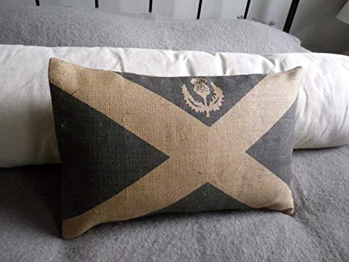 (Athena Bacon Pillowcasecase Hand Printed Scottish Saltire Flag Cushion Cover)