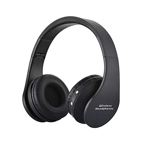 Wireless Foldable Headphones, Bluetooth Over-Ear Stereo Earbuds Wired Headsets with Built-in Microphone with 3.5mm Jack by Mikicat