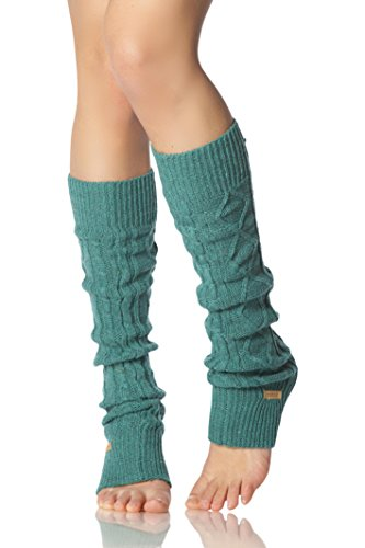 Toesox Leg Warmers Knee High Forest One Size