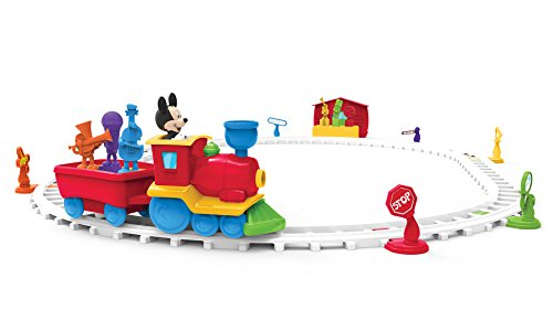 Disney's Mickey Mouse Musical Toy Train| 34Piece Music Training Toy, 7 Built-In Songs| Educational Activities for Kids, Toddlers, Boys Or Girls| Christmas & Birthday Gift -