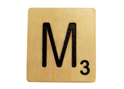 Extra Large 9 Inch Scrabble Tile - M