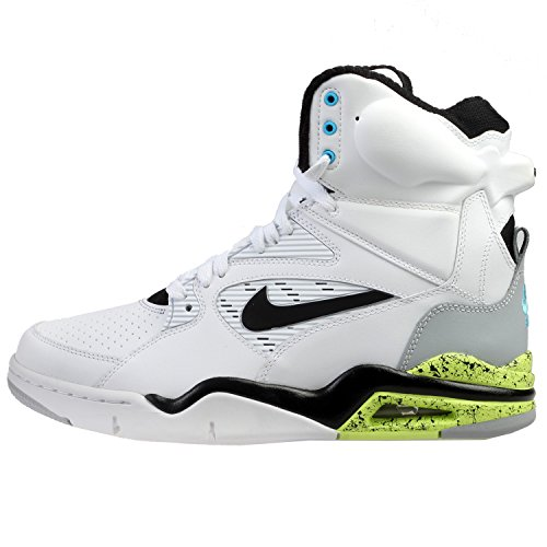 Nike Men's Air Command Force White/Black/Wolf Grey/Volt Basketball Shoe 10 Men US