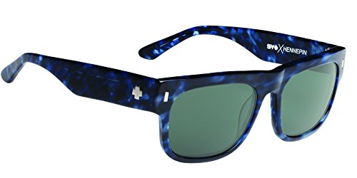 Spy Optic Unisex Hennepin Happy Lens Collection Sunglasses, Navy Camo Tort/Grey Green, One Size Fits - New Sunglasses Spy