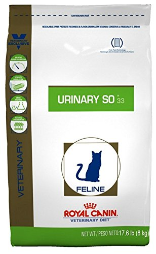 Royal Canin Feline Urinary SO 33 Dry Cat Food, 17.6 lb. (Best Food For Struvite Crystals In Cats)