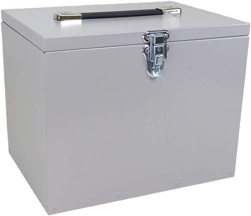 Ms Horse Caja de limpieza para caballos de aluminio de alta calidad, resistente, color gris plateado