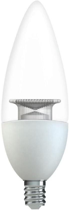 High Definition B11 Blunt Tip Clear Candelabra Base Dimmable LED Light Bulb 2-Pack GE 40W Equivalent Soft White 2700K