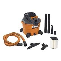 RIDGID Wet Dry Vacuums VAC1200 Heavy Duty Wet Dry Vacuum Cleaner and Blower Vac, 12-Gallon, 5.0 Peak Horsepower Detachable Leaf Blower Vacuum Cleaner with Pro-Grade Hose
