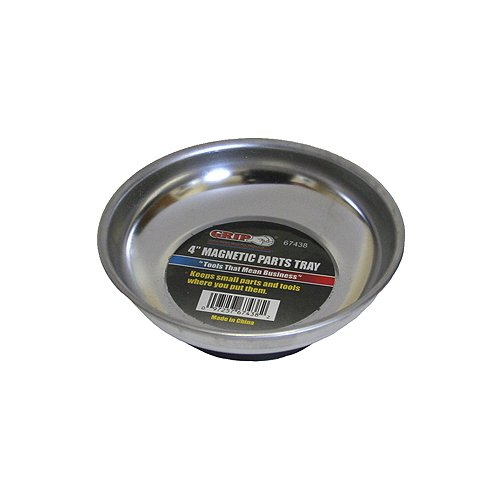 """Grip-On GRIP 6"""" Stainless Steel Magnetic Parts Tray"""
