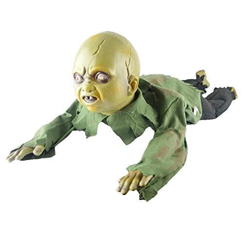Fenteer Crawling and Screaming Man Figure Bareheaded Ghost Doll Halloween Prop Party Decoration ()