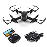 Drone with Camera Live Video,WiFi FPV Quadcopter with 120° Wide-Angle 720P HD Camera Foldable Drone RTF - Altitude Hold, One Key Take Off/Landing, 3D Flip, APP Control