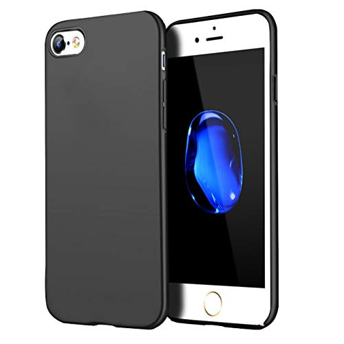 Compatible for iPhone 6 Plus case/iPhone 6S Plus Case, Anti-Fingerprint,Matte Finish Comfortable Silky Smooth Touch Great Grip Feeling Slim Fit Hard Plastic PC Super Thin Mobile Phone Cover-Black]()