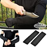 Glove - Pair Steel Wire Safety Anti Cutting Arm Sleeve Gardening Protection Tool - Resistant Inkiness Strong Fabric Blackness Help Wrist Self-Defense Protector Clambing - 1PCs