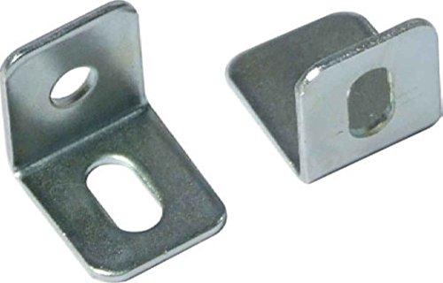Celtic Woods Pack Of 20 Nickel Steel Angle Brackets 15Mm X 15Mm X 13Mm Support Fix With Adjust Slot D014 - Nickel Corner Bracket
