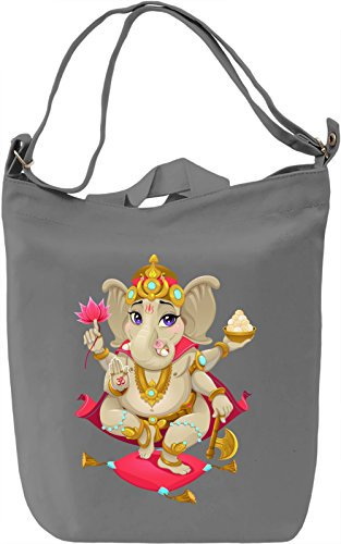 Ganesh Borsa Giornaliera Canvas Canvas Day Bag| 100% Premium Cotton Canvas| DTG Printing|