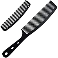 2pcs Colorful Metal Anti Static Barber Combs Aluminum Hair Comb Cutting Comb set Hair Styling Hairdressing Comb for Men…