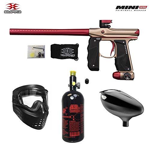 Empire Mini GS Beginner HPA Paintball Gun Package A - Dust Tan/Red